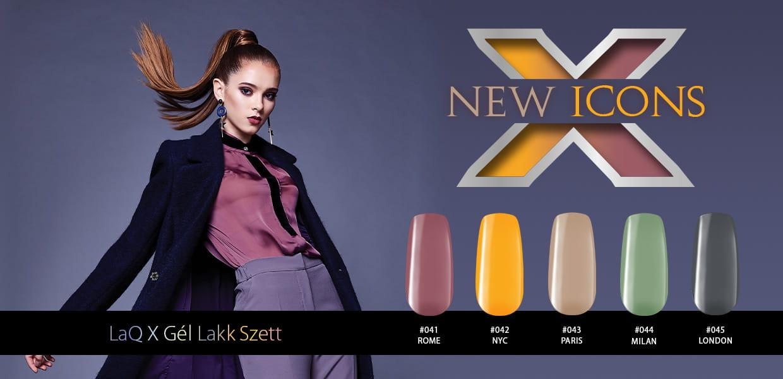 LacGel LaQ X - New Icons Gél Lakk Szett